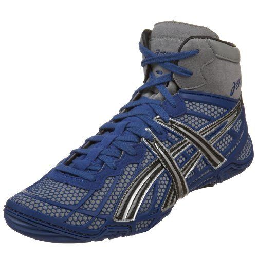 c7c8b828128 The Features ASICS Men s Dan Gable Ultimate Wrestling Shoe Blue Black Silver  8 5 D US -