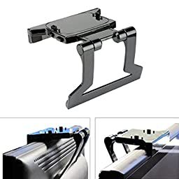 Lookatool® New TV Clip Clamp Mount Mounting Stand Holder for Microsoft Xbox 360 Kinect Sensor