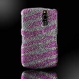 Cristalina Pink Silver Zebra crystal bling rhinestone case cover Blackberry Curve 8300 8310 8320 8330