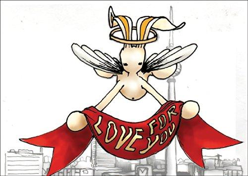 Verschicken Sie einen Hasen als Berliner Verkündigungsengel als Weihnachtskarte • auch zum direkt Versenden mit ihrem persönlichen Text als Einleger.