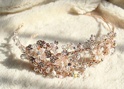 Golden-Floral-novia-headpieces-brillantes-perlas-boda-tiara-diadema