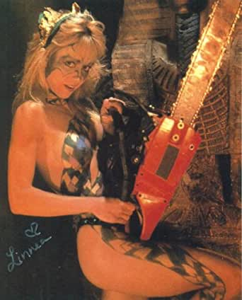 """Autographed LINNEA QUIGLEY Pose From """"HORROR WORKOUT"""""""