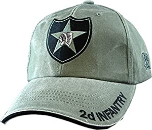 US Army 2nd Infantry Division OD Green Ball Cap
