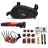 Century Accessory Bicycle Bike Cycling Repair Tools Cycle Maintenance Kits Set With Pouch Pump Red