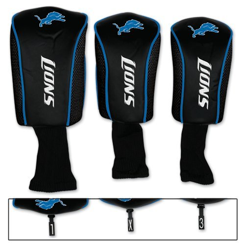Detroit Lions Golf 3 pack MB Headcovers by NFL