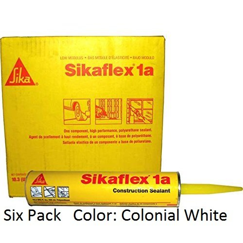 Sika, Sikaflex 1A, One Part Polyurethane Caulk, Sealant / Adhesive, 10.3 Fl Oz, Color: Colonial White, Six Pack (Waterproof Grout Sealer compare prices)