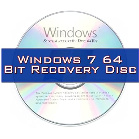 Windows 7 System Recovery disk Live Boot CD 64 bit DVD. (Disc is comparable with Home Basic, Home Premium, Business, and Ultimate)