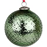 EarthenMetal Handcrafted Green Coloured Christmas Decoratives / Glass Hanging Ball