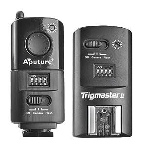 Déclencheur de flash versatile, Trigmaster II MXII-N 2,4G FSK, de la marque Aputure Fréquence radio, contrôle stroboscopique, flash Speedlight pour la plupart des appareils photo et déclencheur de flash à distance pour tous les Nikon LF168