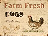 Farmhouse Style Cream with Chicken and Egg Feature to Centre with Farm Fresh Eggs