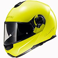 LS2 Helmets Strobe Solid Modular Motorcycle Helmet with Sunshield (Hi-Vis Yellow, XX-Large) by LS2 Helmets