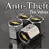 Chevy Logo Anti-Theft Tire Valve Caps