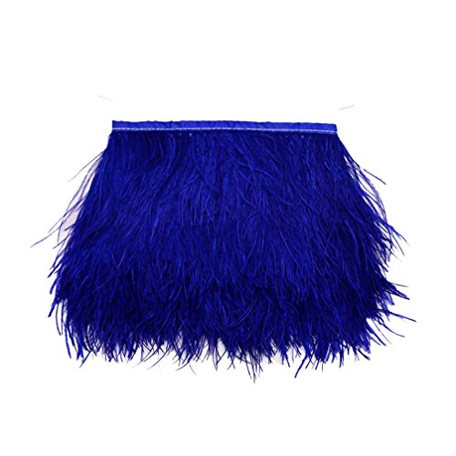 Great Features Of Lanshi Ostrich Feathers Trims Fringe with Satin Ribbon Tape for Dress Sewing Craft...