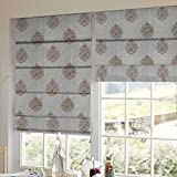 Presto Bazaar Gold Abstract Tissue Embroidered Window Blind (84 Inch X 44 Inch)