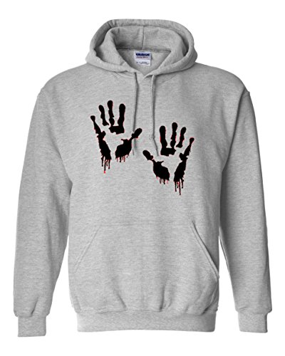 Bloody Hands , hoodie, Cotton,80% Cotton, 20% poliestere, Men's, Women, Kids (12-13 Years, Grigio)