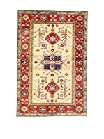 Eden Carpets Alfombra Kazak Super Rojo/Beige/Azul 152 x 104 cm