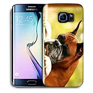 Snoogg Dog Waiting For Someone Printed Protective Phone Back Case Cover For Samsung Galaxy S6 EDGE / S IIIIII