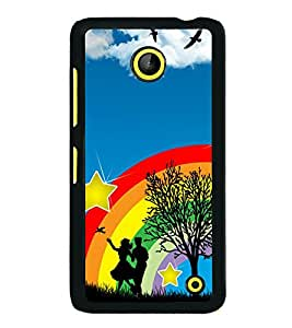 printtech Rainbow Couple Stars Sky Back Case Cover for Nokia Lumia 630