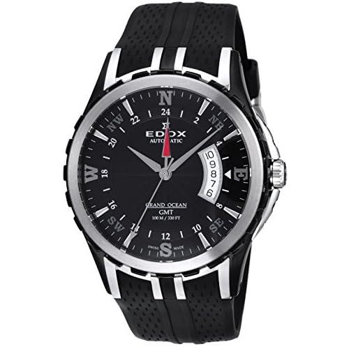 [エドックス]EDOX 腕時計 グランドオーシャン ブラック文字盤 自動巻 100M防水 93004-357N-NIN メンズ 【並行輸入品】