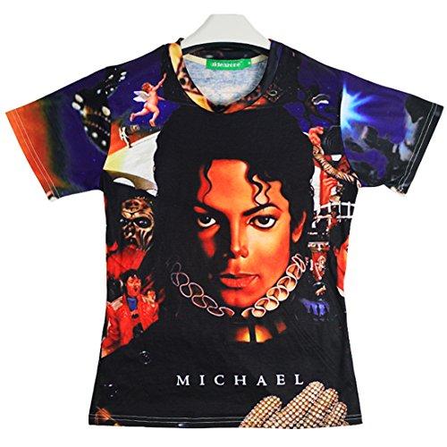 7a1bde9b1af Unisex Michael Jackson Shirt Clothing for Women Men Plus Size