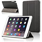 Forefront Cases Leather Case Cover/Stand with Magnetic Auto Sleep Wake Function for Apple iPad Mini - Black