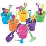 "OTC Sand Pail Beach Play, 3.25"" Bucket with Rake, Scoop & Shovel, Small, 24 Sets"