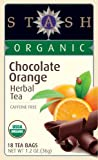 Stash Tea Organic Herbal Tea Bags in Foil, Chocolate Orange, 100 Count