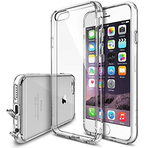 RINGKE FUSION [Crystal View] [Absorption des Chocs Pare-Chocs] Hybride de Protecteur pour Coque iPhone 6 (2014) – Emballage ECOLOGIQUE – Crystal View