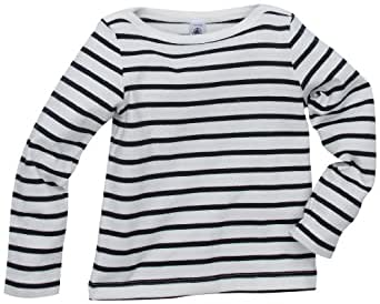 Petit Bateau Place - Sweat-Shirt - Fille - Lait/Smoking - 3 Ans