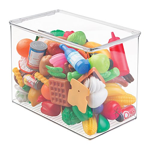 mDesign Kids/Baby Toy Storage Box, for Blocks, Play Kitchen Pieces, Costumes - 12.75