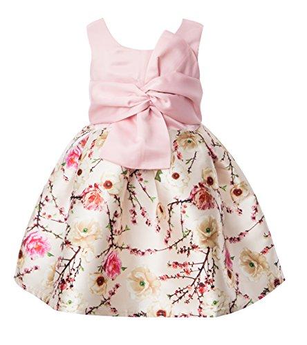 Newill Flowers Jacquard Princess Dress Toddler Little Girls Party Wedding