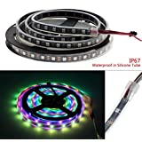 Inovat 4M 5V 60Leds/M 240pixels Programmable WS2812B RGB 5050 LED Strip Individually Addressable Dream color Waterproof IP67 PCB Black (Color: black)