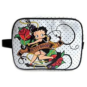Betty Boop Toiletry/Cosmetic Bag-White