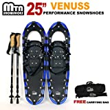 "Search : New MTN Man Woman Kid Youth 25""Blue Snowshoes with Nordic Walking Pole Free Bag"