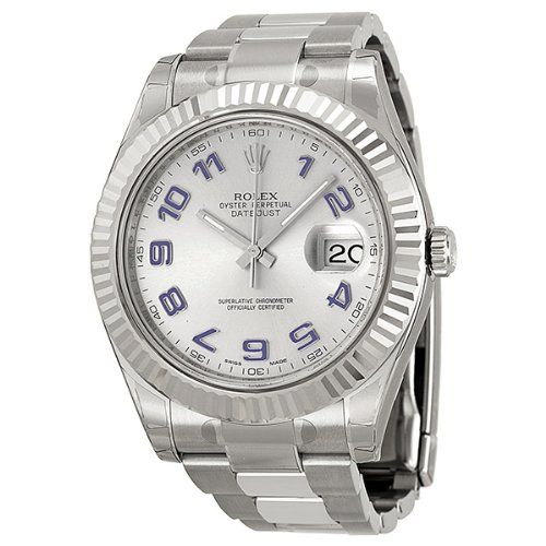 Rolex Datejust II Automatic Rhodium Dial Stainless Steel Mens Watch 116334RBLAO