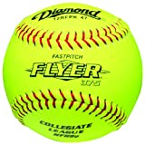 Diamond 12-Inch Leather Cover Fastpitch Softball, Cork Core, NFHS Stamped, Dozen by Diamond Sports