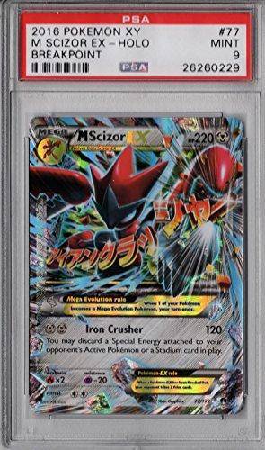 PSA-Mint-9-Mega-Scizor-EX-Holo-77122-Pokemon-XY-Breakpoint-Rare