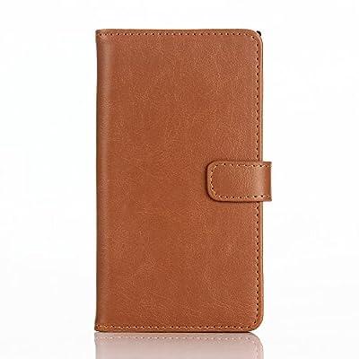 Blackberry Priv Phone Case, Truevaluetech Vintage Crazy Horse Leather Wallet Purse Flip Case Cover Protect for Blackberry Priv Smartphone by Truevaluetech