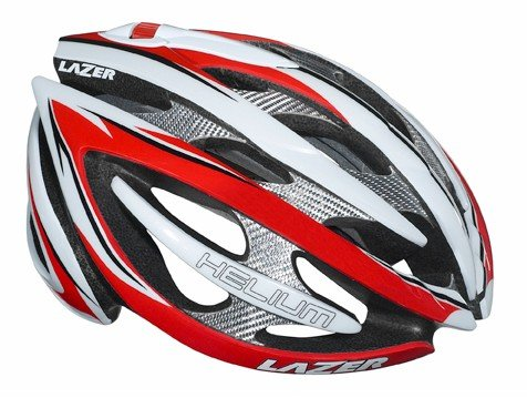Lazer Helium Helmet: Red/White; 2XS/SM (50-56cm)