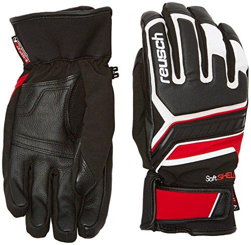 Reusch guanti da uomo Thunder R-TEX XT, Uomo, Handschuhe Thunder R-TEX XT, black/White/fire red, 8.5