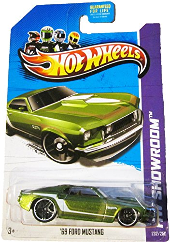 Hot Wheels 2013 Hw Showroom Muscle Mania Green '69 Ford Mustang 232/250 - 1