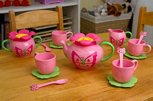 Sunny Patch Bella Butterfly 17-Piece Tea Gift Set