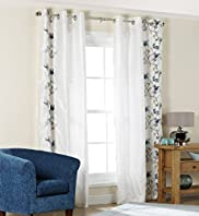 Floral Embroidery Curtains