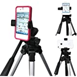 ChargerCity Exclusive Apple iphone 6 Plus 6 5S Samsung Galaxy S5 S6 NOTE 5 Edge LG G3 G4 HTC ONE Nexus 5 MOTO X 360º Multi Angel Adjustment Tripod Adapter & Easy-Adjust Smartphone Holder (Phone & Tripod is not included with Purchase)