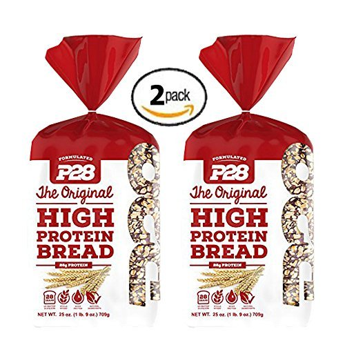 2 Pack Value of P28 High Protein Bread 100% Whole Wheat, Includes 7 Day Clean Eating/High Protein Meal Plan E-Book by P4 (Protein Bread compare prices)