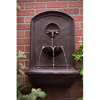The Napoli - Outdoor Wall Fountain - Weathered Bronze - Water Feature for Garden, Patio and Landscape Enhancement