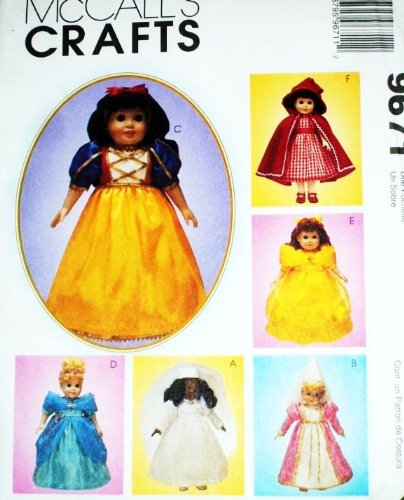 "Mccall'S Disney Princess & Bride 18"" Inch Doll Pattern ~ American front-941907"