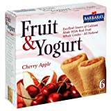 Barbara's Bakery Fruit and Yogurt Bar, Cherry Apple, 6-Count 8.9-Ounce Boxes (Pack of 8) ~ Barbara's Bakery