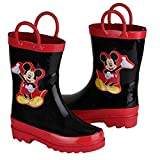 Disney Mickey Mouse Girl's Black Rain Boots (Toddler/Little Kid)