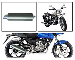Vheelocityin 83533 Military Green Motorcycle Exhaust for Royal Enfield Bullet Electra